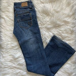 Hydraulic low rise bootcut jeans